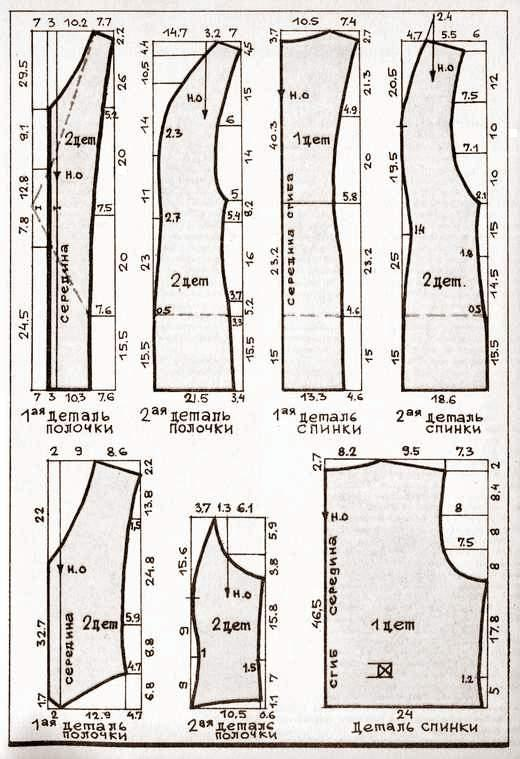 Построение выкройки мужского жилета. выкройка жилетки женской.