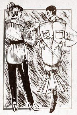 «Мужская рубашка» для девушки (чертеж выкройки)