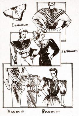 Варианты воротников платья